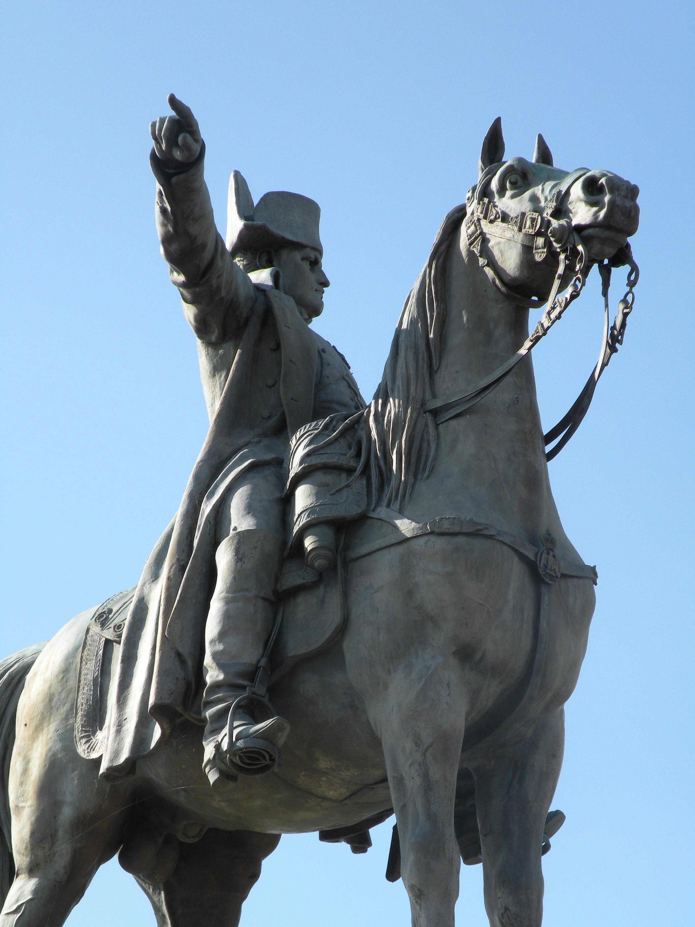 STATUE EQUESTRE DE NAPOLEON 1ER 1867 Pajol Montereau