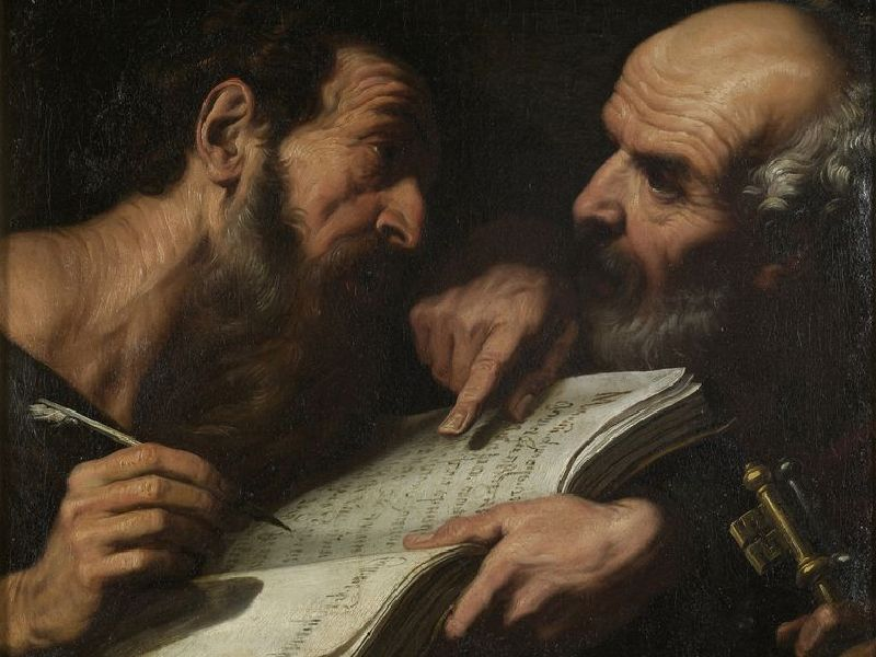 Saints Peter and Paul by Daniele Crespi, Brera Milan
