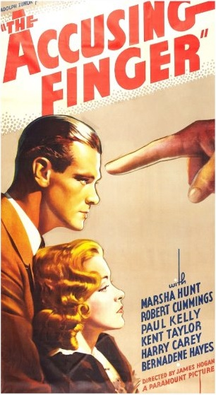 The Accusing Finger Paul Kelly Marsha Hunt 1936