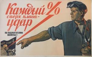 URSS 1950 Chaque pourcent du plan est un coup pour les fauteurs de guerre