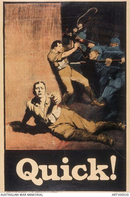 WW1 Australie 1918 Quick affiche de Norman Linsay