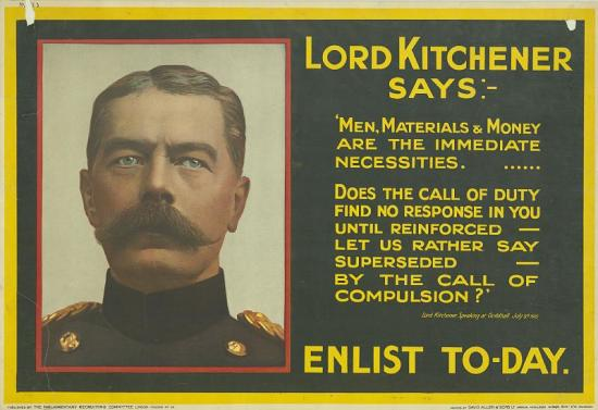 WW1 GB 1915 UK Parliamentary Recruiting Committee Kitchener