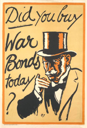 WW1 GB 1917 Did-you-buy-War-Bonds-today affiche de Herbert Thomas