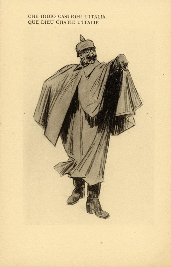 WW1 Italie Che iddio castighi l'Italia que dieu chatie l'Italie carte postale de Raemaekers, Louis