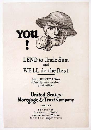 WW1 USA 1917-18 you lend to uncle sam
