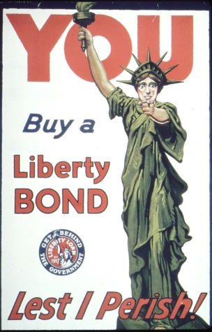 WW1 USA 1917 You, Buy a Liberty Bond, Lest I Perish