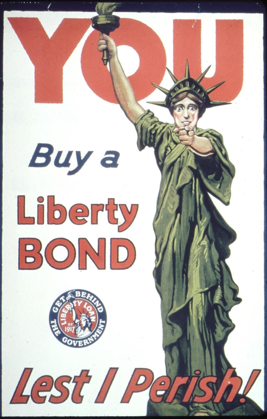 WW1 USA 1917 You, Buy a Liberty Bond, Lest I Perish