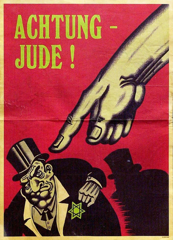 WW2 Allemagne 1942 Achtung jude