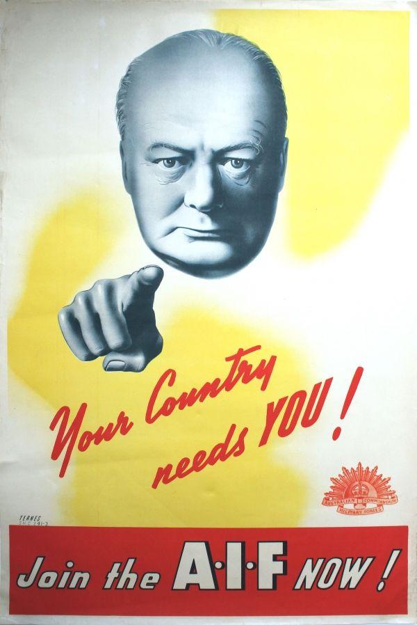 WW2 Australie 1941 Join the Australian Imperial Force