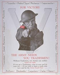 WW2 Canada The army needs you tradesmen