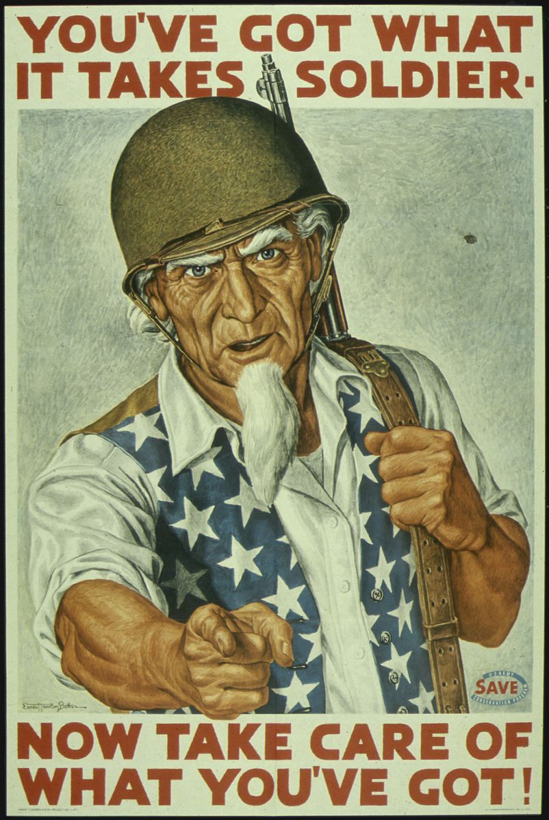 WW2 USA 1943 _YOU'VE_GOT_WHAT_IT_TAKES_SOLDIER._NOW_TAKE_CARE_OF_WHAT_YOU'VE_GOT._ Ernest Hamlin Baker