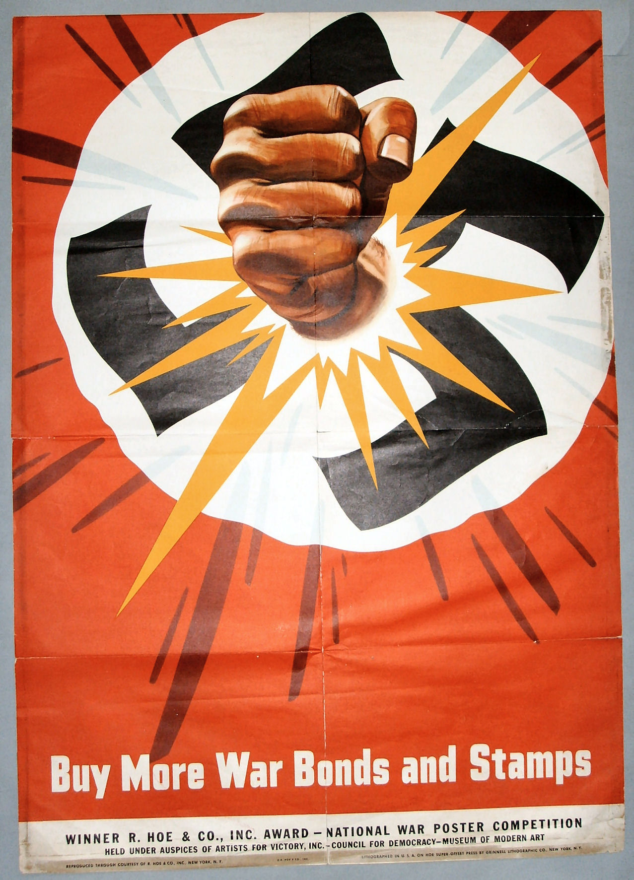 WW2 USA 1943 ca Buy mor war bonds and stamps