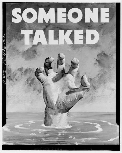 WW2 USA SOMEONE TALKED 1