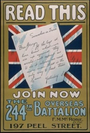 WWI Canada lettre