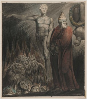 William Blake Lucifer and the Pope in Hell The King of Babylon About 1805 Museum of Fine Arts Boston