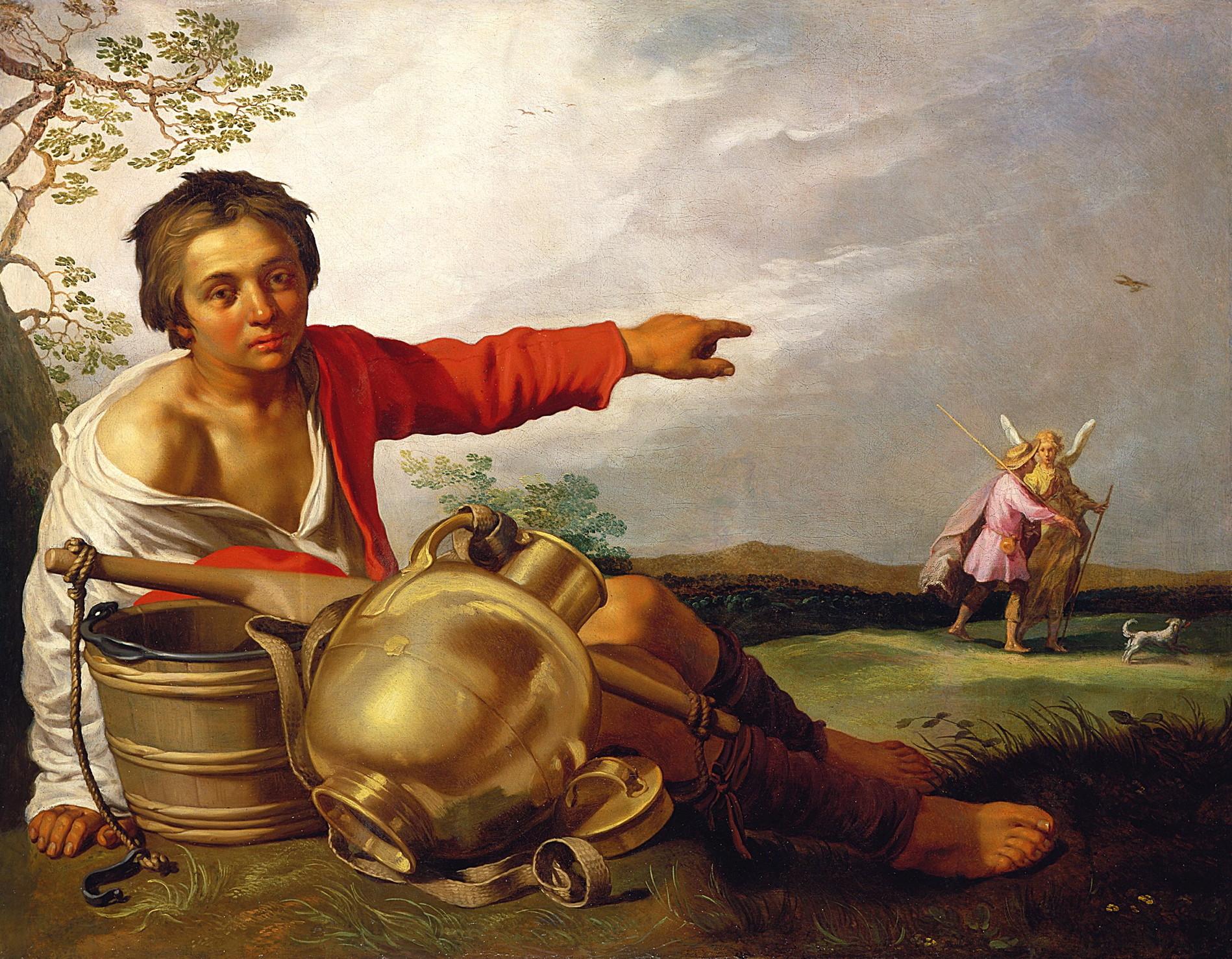 abraham bloemaert - Boy Pointing at Tobias and the Angel 1625–30 Minneapolis Instituteof Arts
