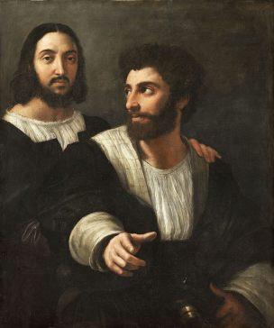 raphael-autoportrait-avec-un-ami 1518-20 Louvre