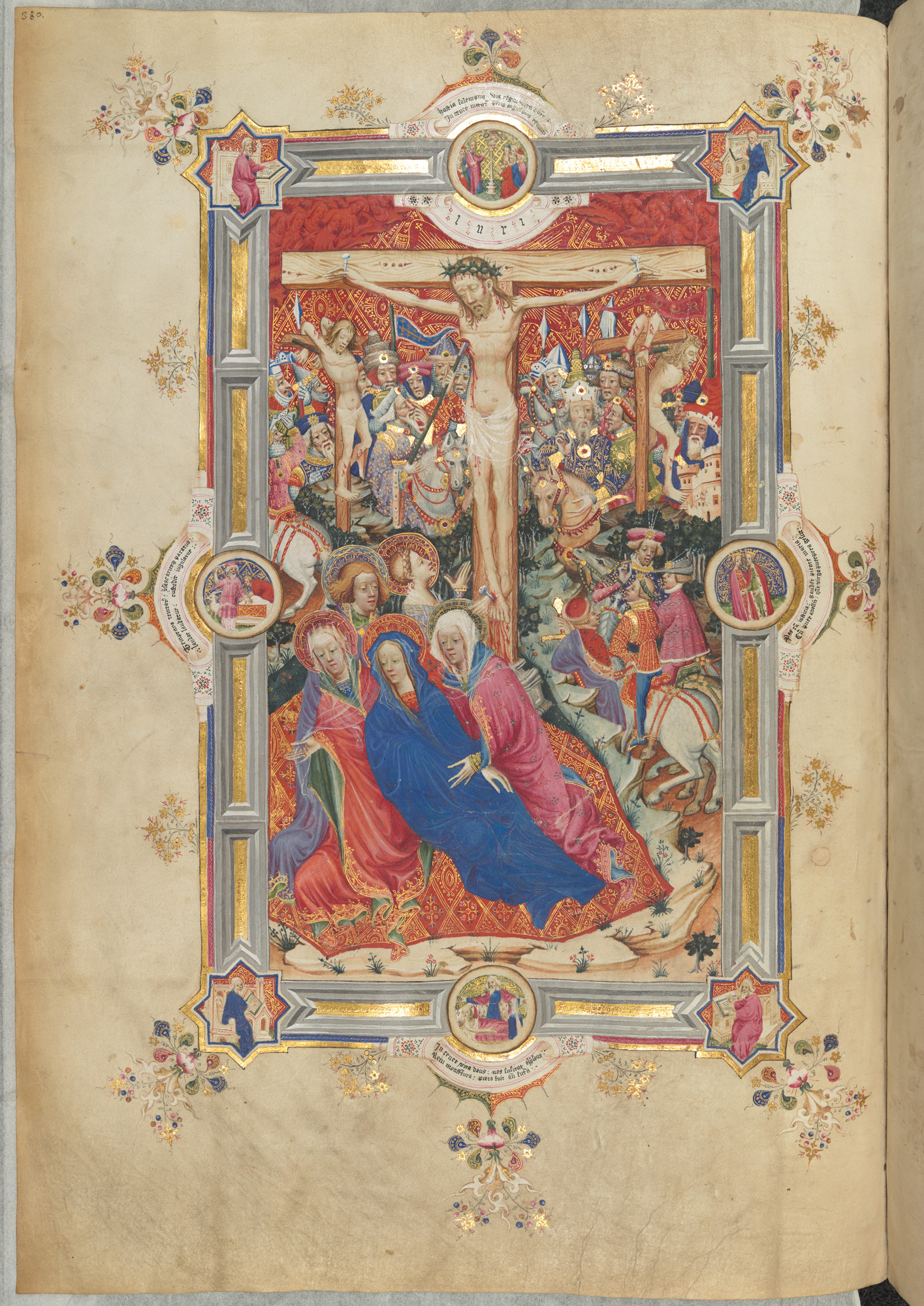 1399-1407 The Crucifixion, Sherborne Missal BL Add MS 74236, p. 380
