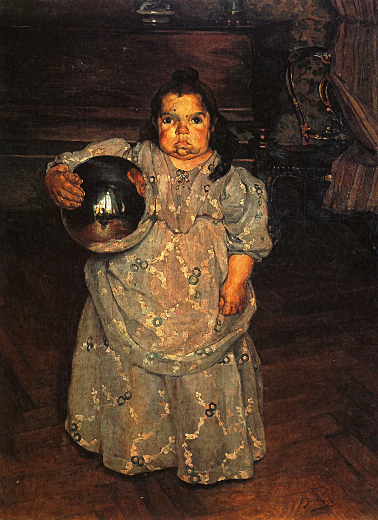 1899 Ignacio Zuloaga La Naine Mercedes Paris musee d'Orsay