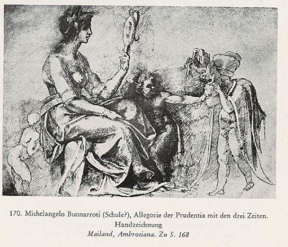 Allegorie de La Prudence Ecole de Michel-Ange