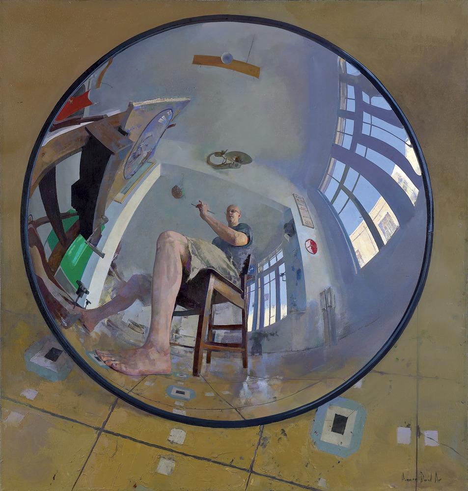 Amnon David Ar Self portrait in convex mirror 2008