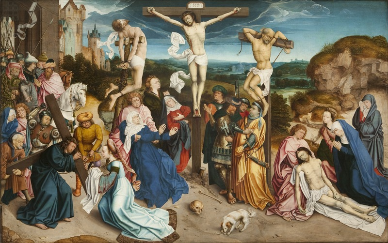 Anonyme vesr 1500 Cathedrale Saint Sauveur Bruges