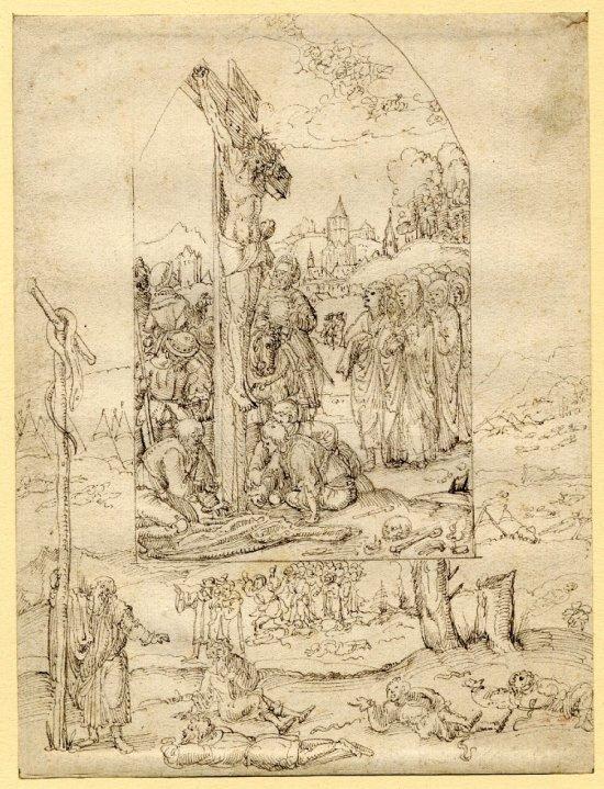 Augustin Hirschvogel Crucifixion vers 1530 Bristish Museum