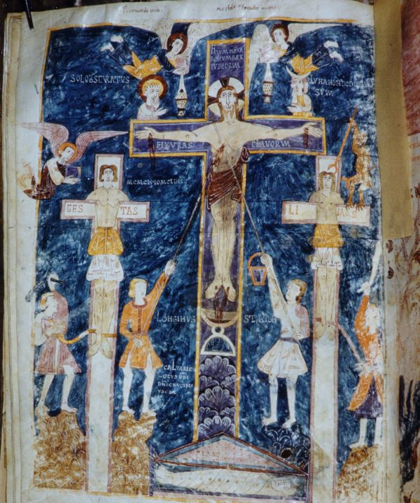Beatus de gerone 975 Crucifixion