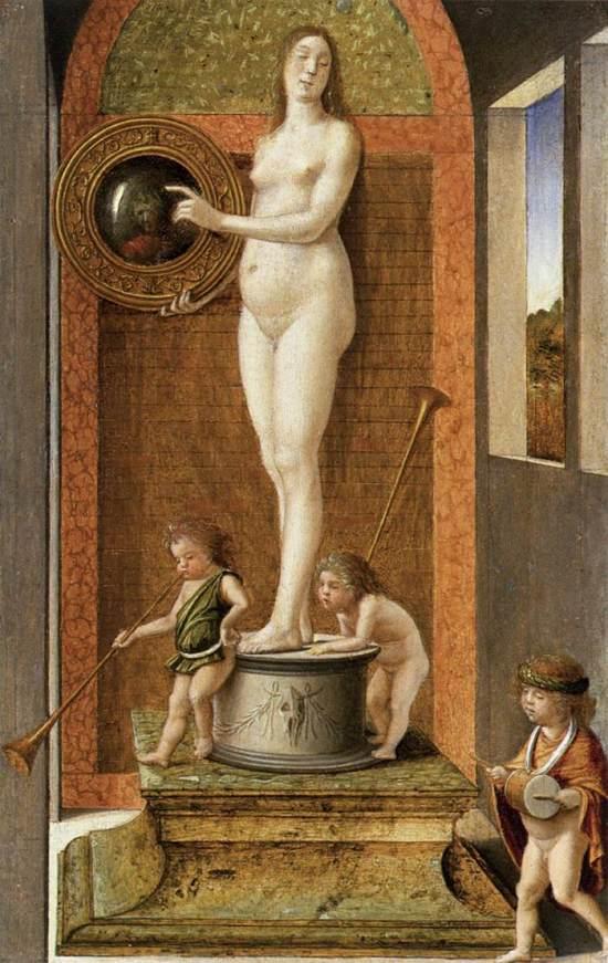 Bellini Allegoria della prudenza o della vanita – ca. 1490 Gallerie dell'Accademia, Venezia