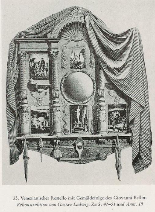 Bellini Allegories reconstitution 1906 Gutstav Ludwig dans Hartlaub