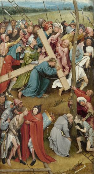Bosch Portement de Croix 1480-90 Kunsthistorisches Museum Vienne