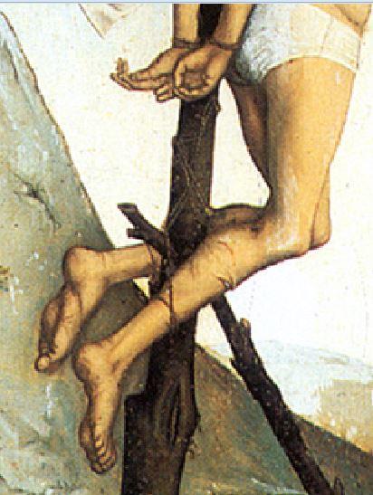 Campin Le mauvais larron v. 1430 Stadel, Francfort sur-le Main detail bon larron