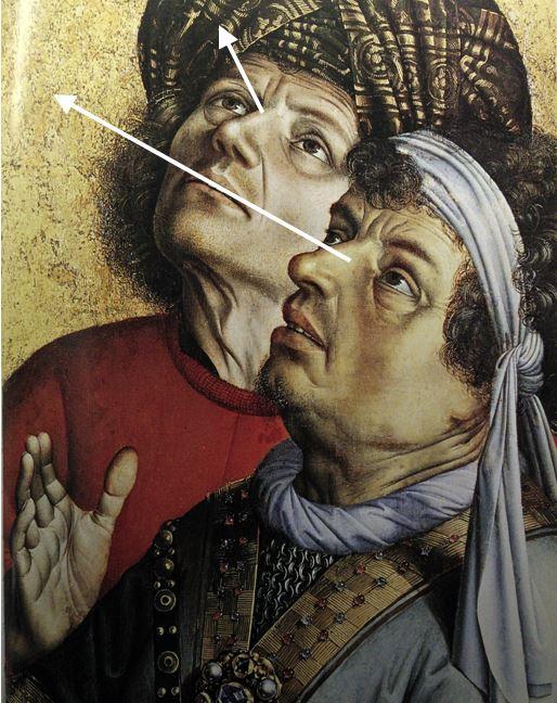 Campin Le mauvais larron v. 1430 Stadel, Francfort sur-le Main detail regards