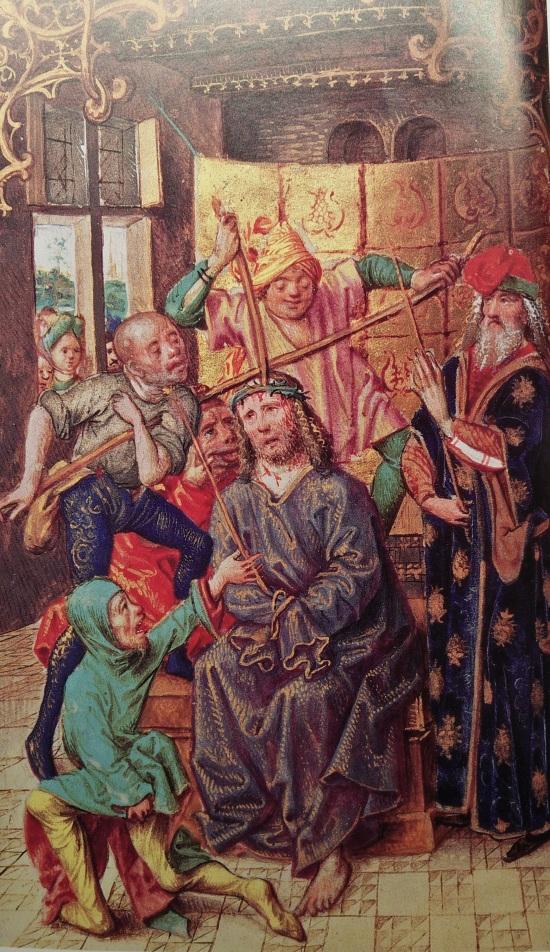 Couronnement d'Epines, Heures de Homoet, Cologne, 1475, Wallraf-Richartz Museum MS 232 p 102