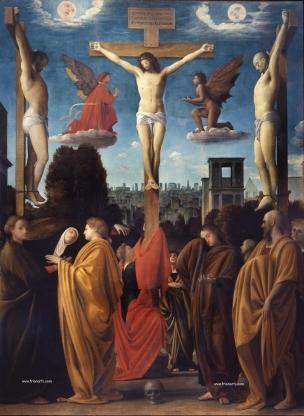 Crucifixion Bramantino 1515 Musee de Brera Milan