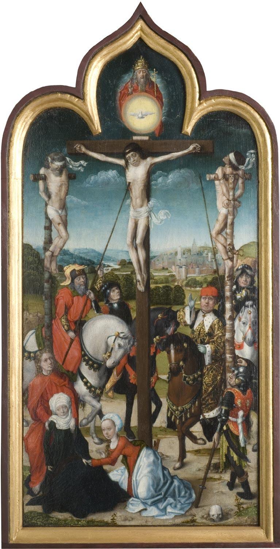 Crucifixion Brugge master 1490-1510 Philadelphia Museum of Arts