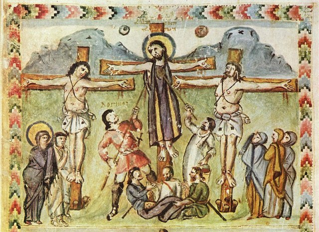 Crucifixion Evangeliaire syriaque de Rabula 586