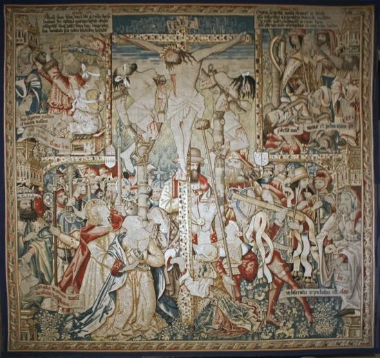Crucifixion, tapisserie de La Chaise Dieu, 1501-1518