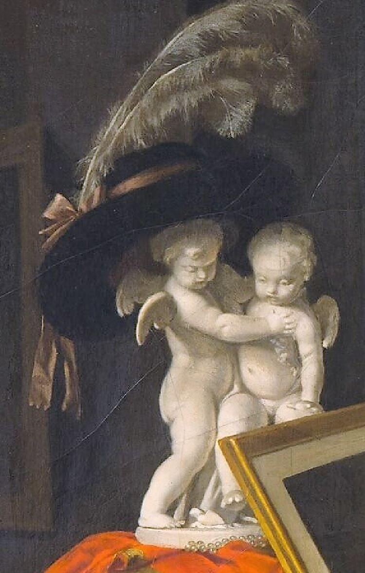 Eleve interessante 1786 ca Marguerite Gerard Fragonard Louvre detail amours