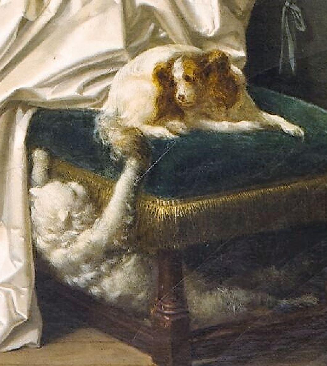 Eleve interessante 1786 ca Marguerite Gerard Fragonard Louvre detail chien chatJPG
