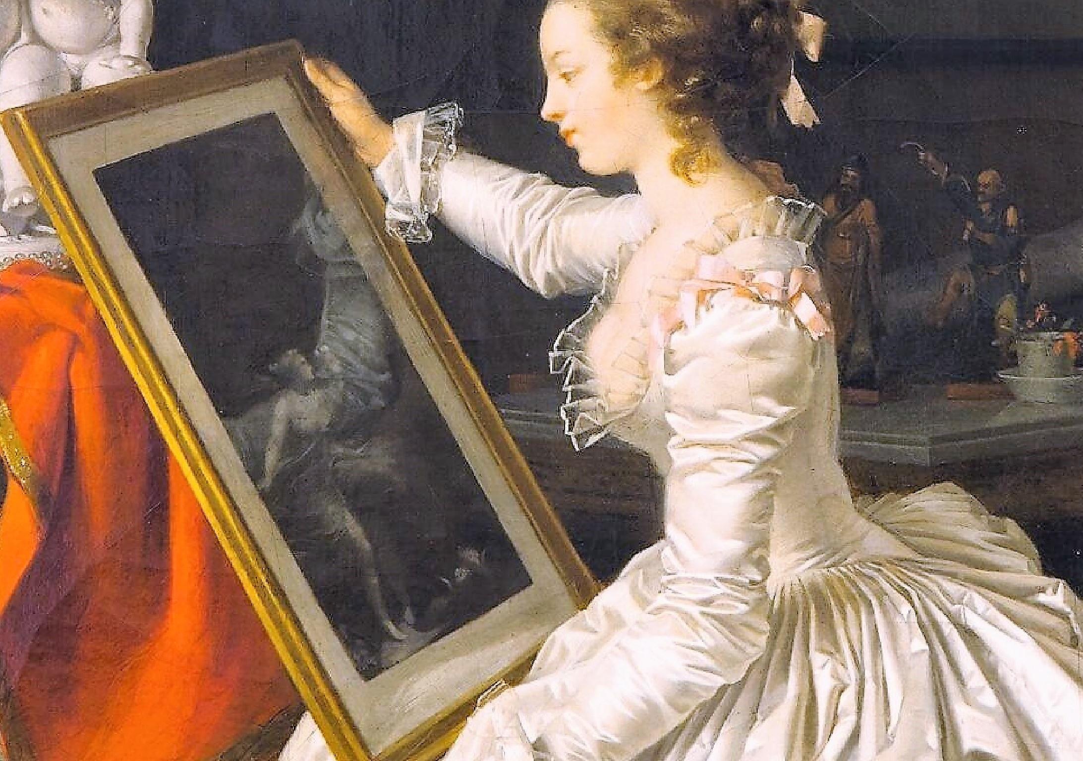 Eleve interessante 1786 ca Marguerite Gerard Fragonard Louvre reflet gravure