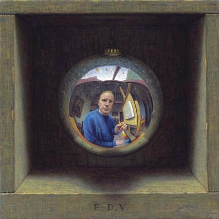 Eric de Vree Autoportrait dans un miroir spherique