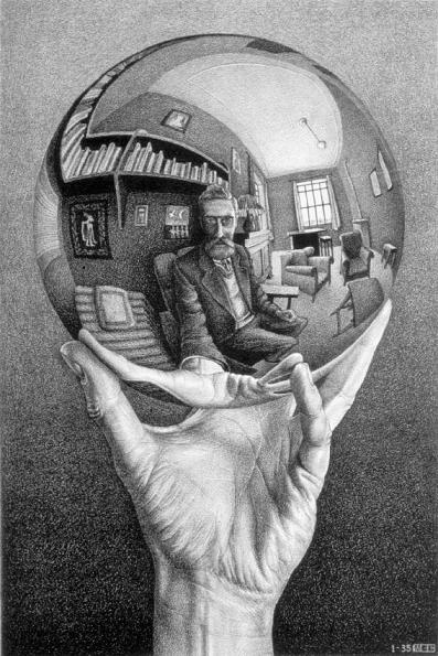 Escher 1935 Hand_with_Reflecting_Sphere