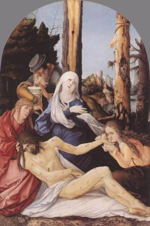 Hans Baldung Grien Deploration 1518 Staatliche Mu