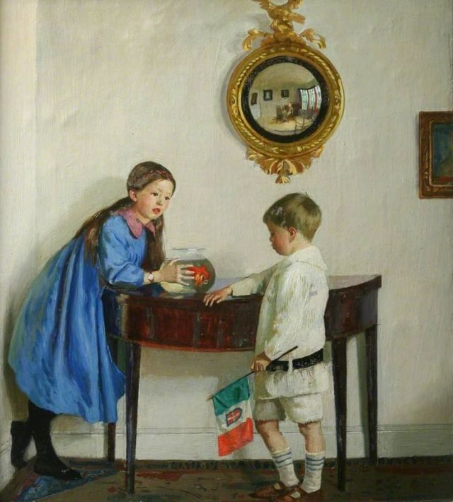 Harold Harvey, Laura and Paul Jewill Hill, 1915 Penlee House Gallery and Gallery, Penzances