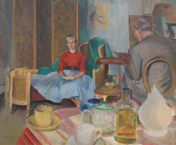 Harold Harvey The unwilling sitter 1932 Coll part