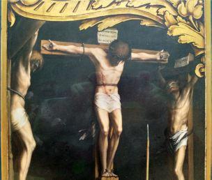 Holbein 1524-26 Retable de la Passion Crucifixion Musee des BA Bale detail