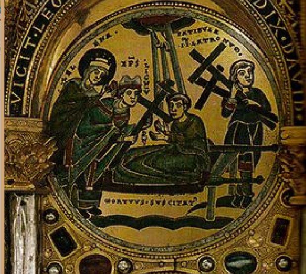 Invention de la Croix Triptyque de Stavelot 1156 Pierpont Morgan Library New York