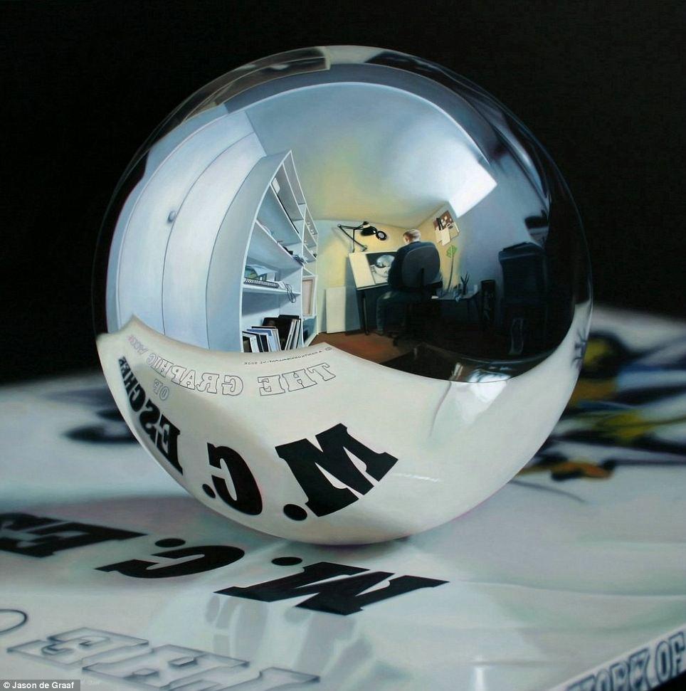 Jason de Graaf Autoportrait dans un miroir spherique