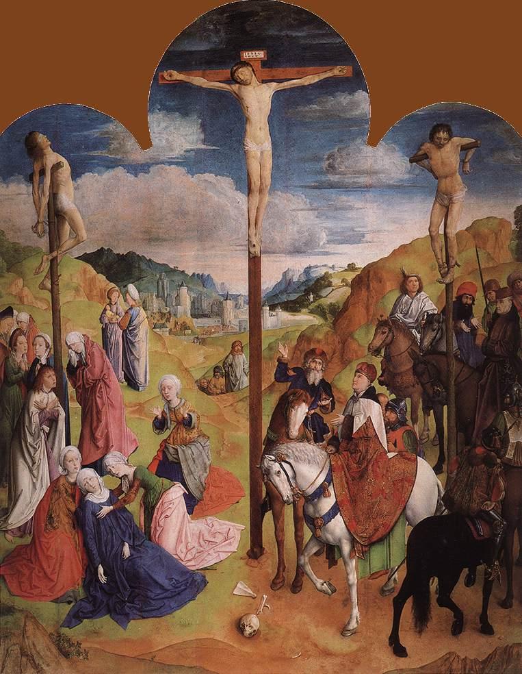 Justus_van_Gent_-_Calvary_Triptych_central 1465-68 cathedrale saint bavon gand